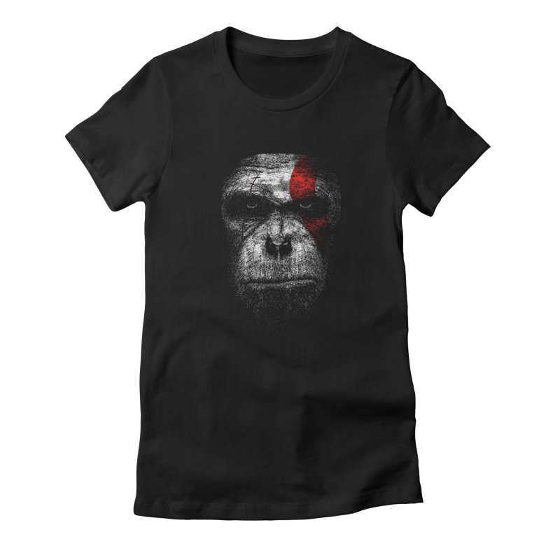 Ape of war Women's Fitted T-Shirt by yakitoko's Artist Shop