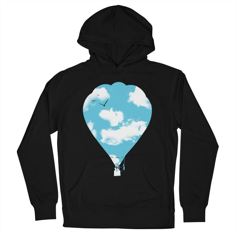 Sky Balloon Men's French Terry Pullover Hoody by yakitoko's Artist Shop