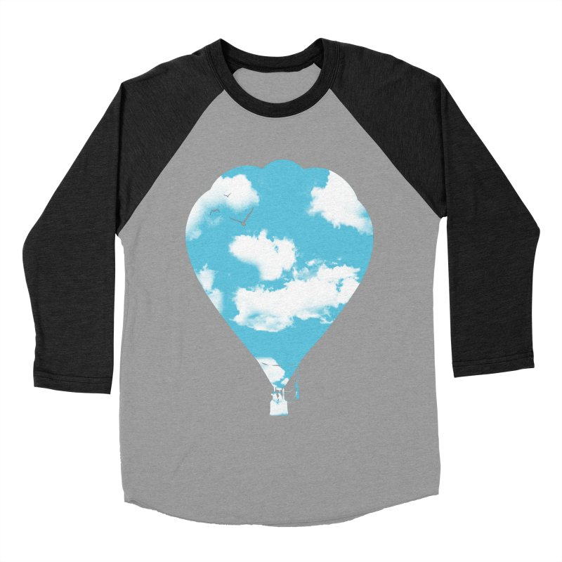 Sky Balloon Women's Baseball Triblend Longsleeve T-Shirt by yakitoko's Artist Shop
