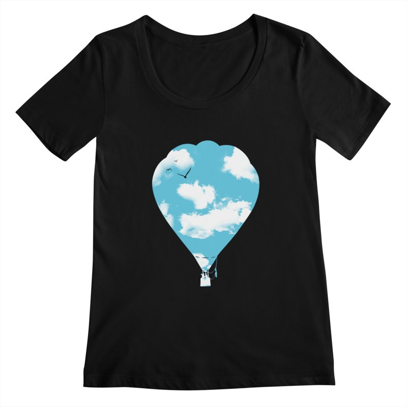 Sky Balloon Women's Scoopneck by yakitoko's Artist Shop