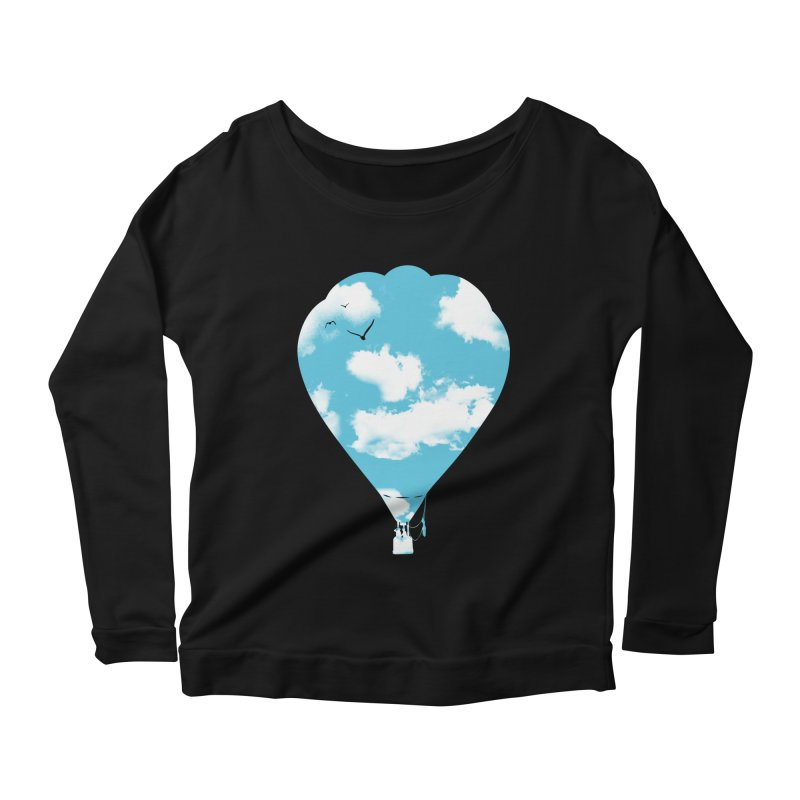 Sky Balloon Women's Longsleeve Scoopneck  by yakitoko's Artist Shop