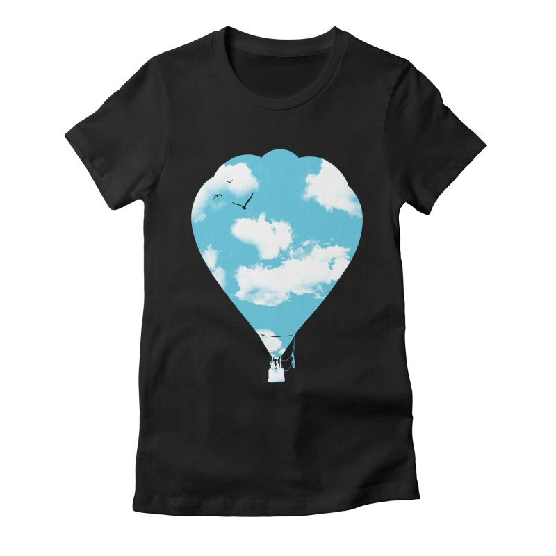 Sky Balloon Women's Fitted T-Shirt by yakitoko's Artist Shop