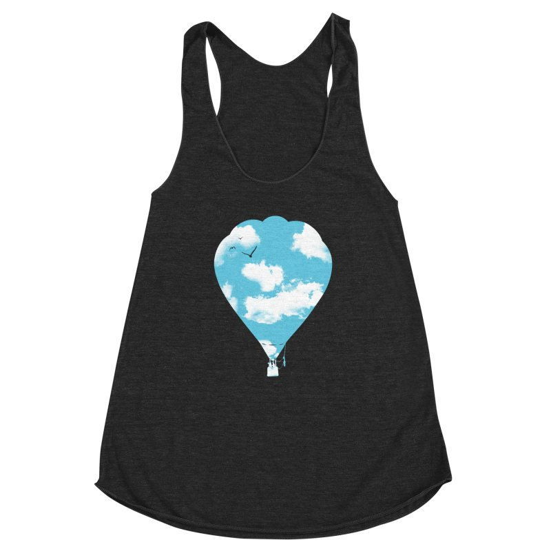 Sky Balloon Women's Racerback Triblend Tank by yakitoko's Artist Shop