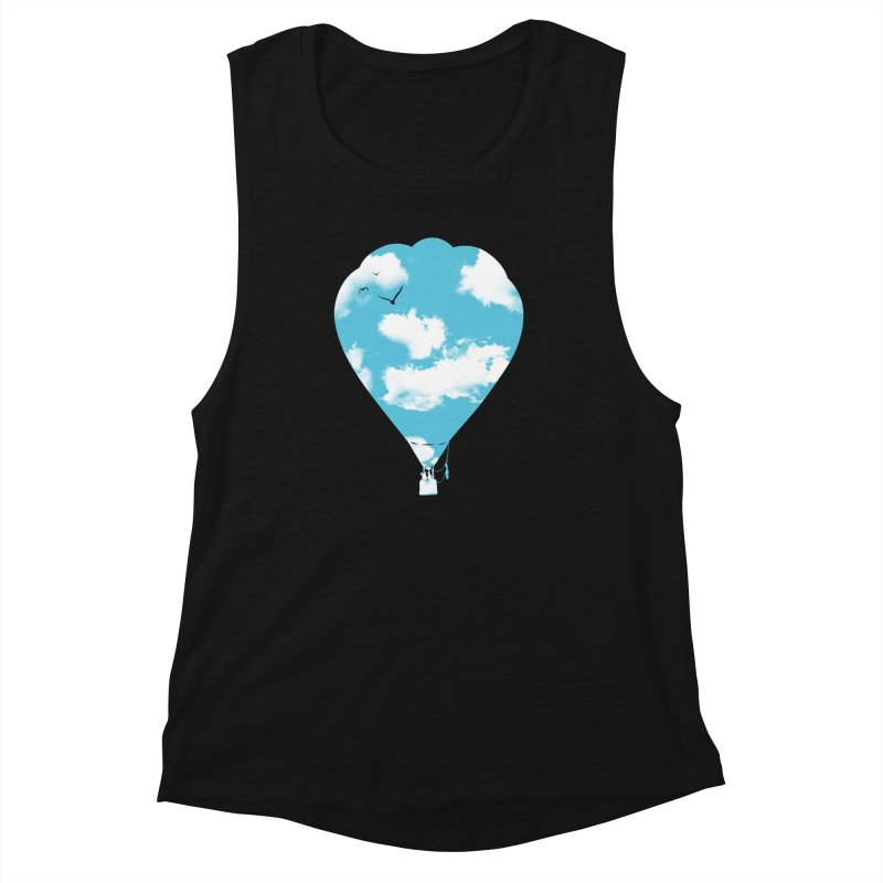Sky Balloon Women's Muscle Tank by yakitoko's Artist Shop