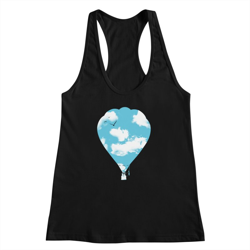Sky Balloon Women's Racerback Tank by yakitoko's Artist Shop