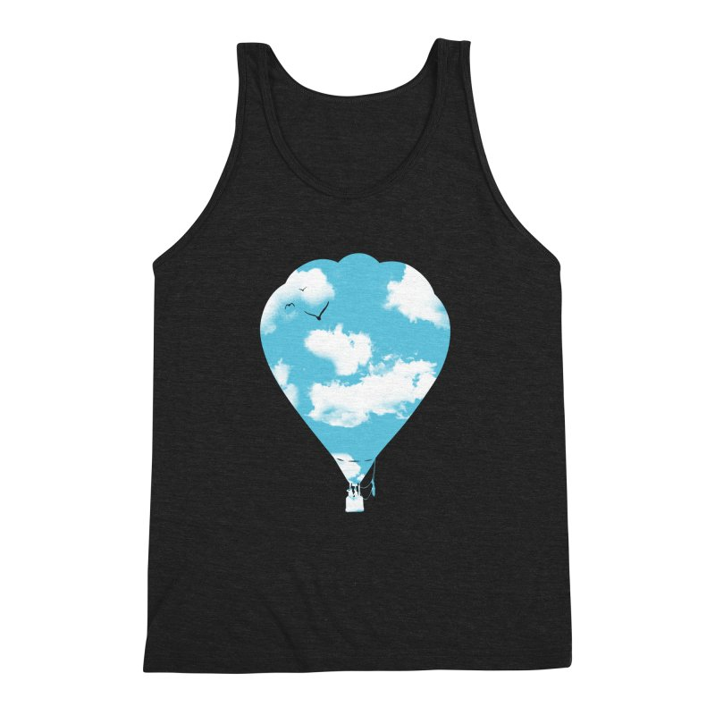 Sky Balloon Men's Triblend Tank by yakitoko's Artist Shop