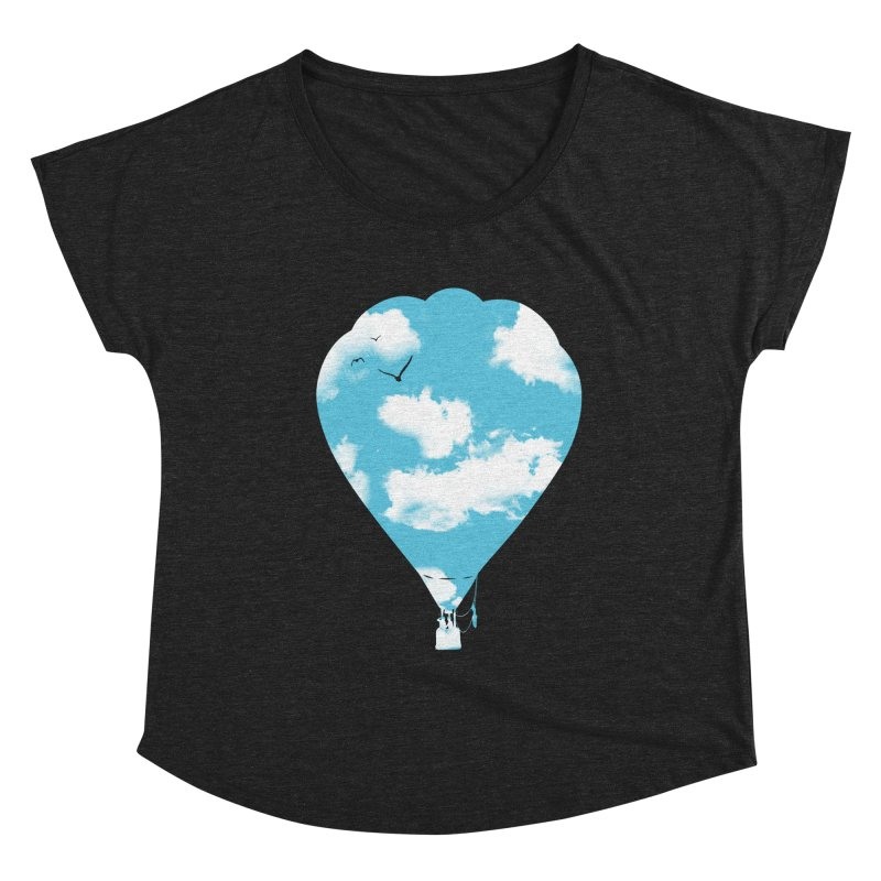 Sky Balloon Women's Scoop Neck by yakitoko's Artist Shop