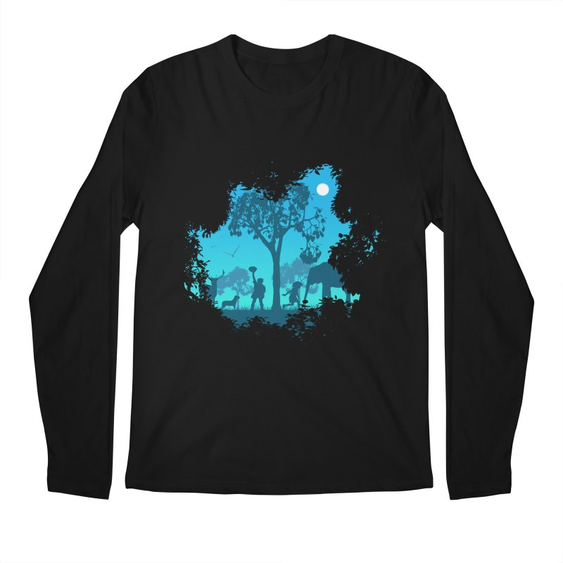 The Jungle Men's Regular Longsleeve T-Shirt by yakitoko's Artist Shop