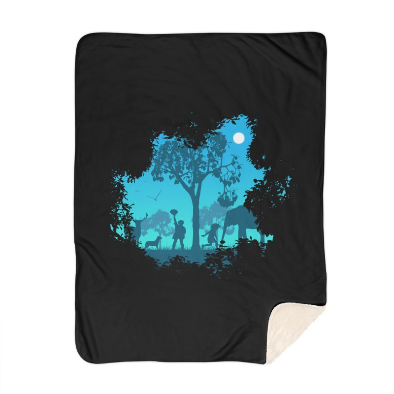 The Jungle Home Blanket by yakitoko's Artist Shop