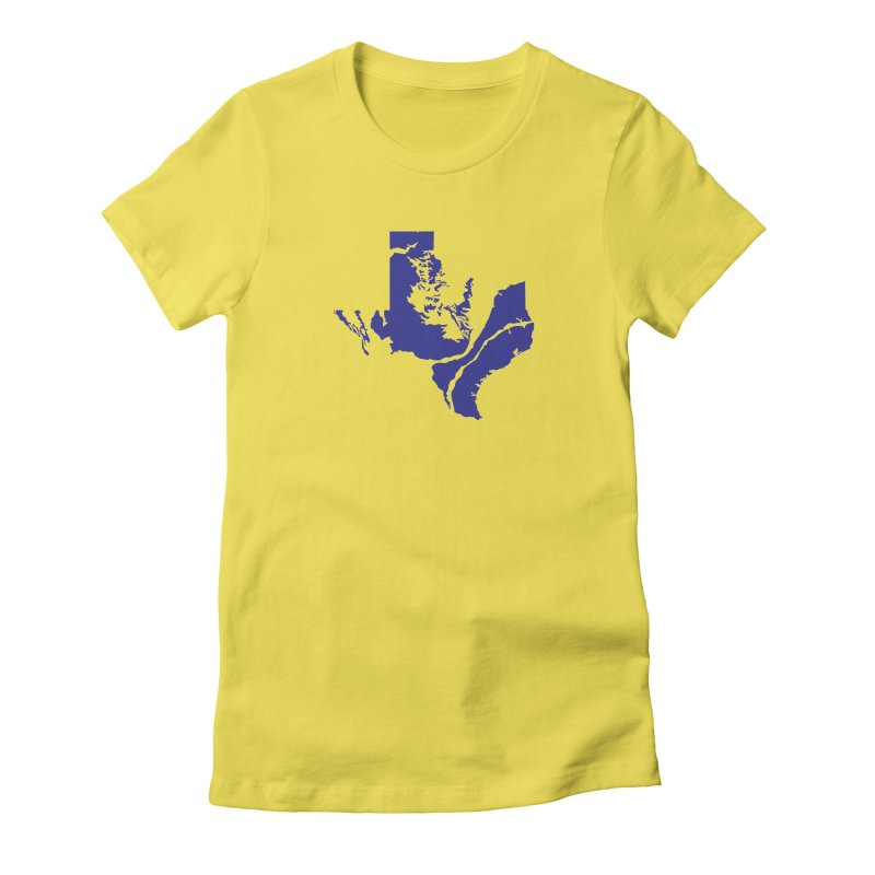 Texas Water Women's Fitted T-Shirt by Yakona
