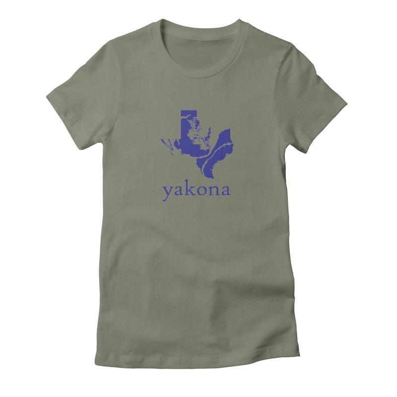 Texas Water Yakona Women's Fitted T-Shirt by Yakona