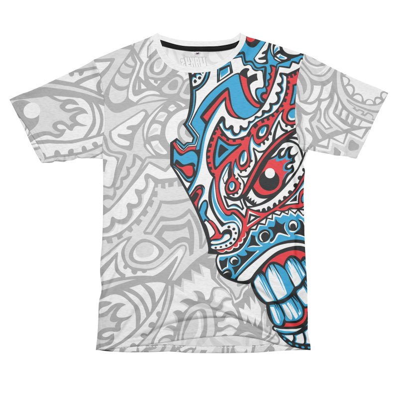 IFC_Large_FaceA Women's Unisex French Terry T-Shirt Cut & Sew by Art of Yaky Artist Shop