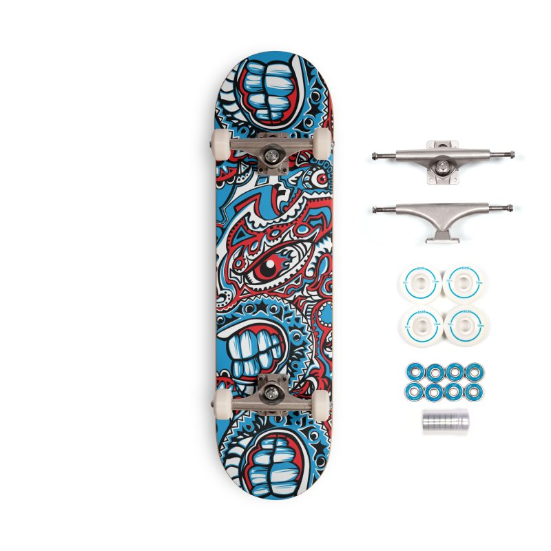 Indigenous Faces_The Patron of War Accessories Skateboard by Art of Yaky Artist Shop
