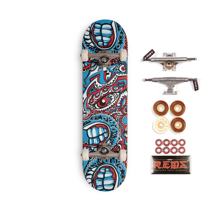 Indigenous Faces_The Patron of War Accessories Skateboard by Yaky's Customs