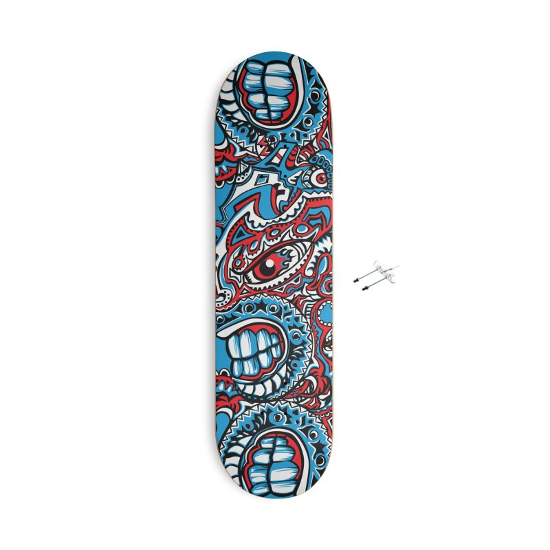 IFC_Skate_FaceA001 Accessories With Hanging Hardware Skateboard by Art of Yaky Artist Shop