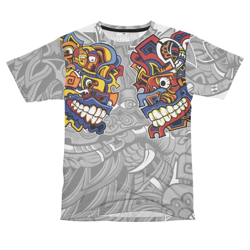 IFC_Large_FaceC Women's Unisex French Terry T-Shirt Cut & Sew by Art of Yaky Artist Shop