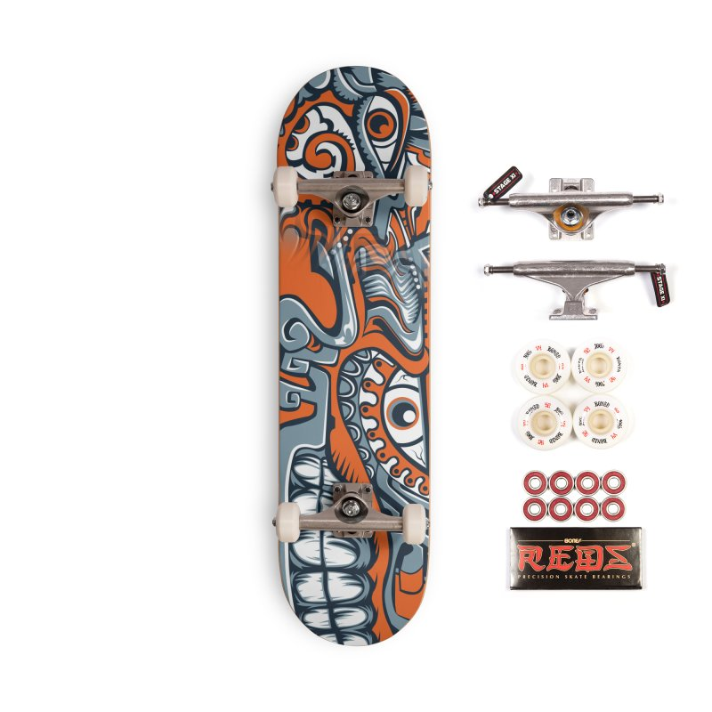 Indigenous Faces_The Feathered Serpent Accessories Skateboard by Art of Yaky Artist Shop