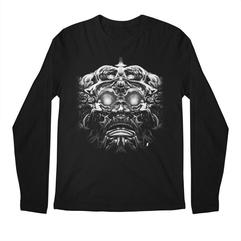 Vanished Kings B&W Design B Men's Regular Longsleeve T-Shirt by Art of YakyArtist Shop