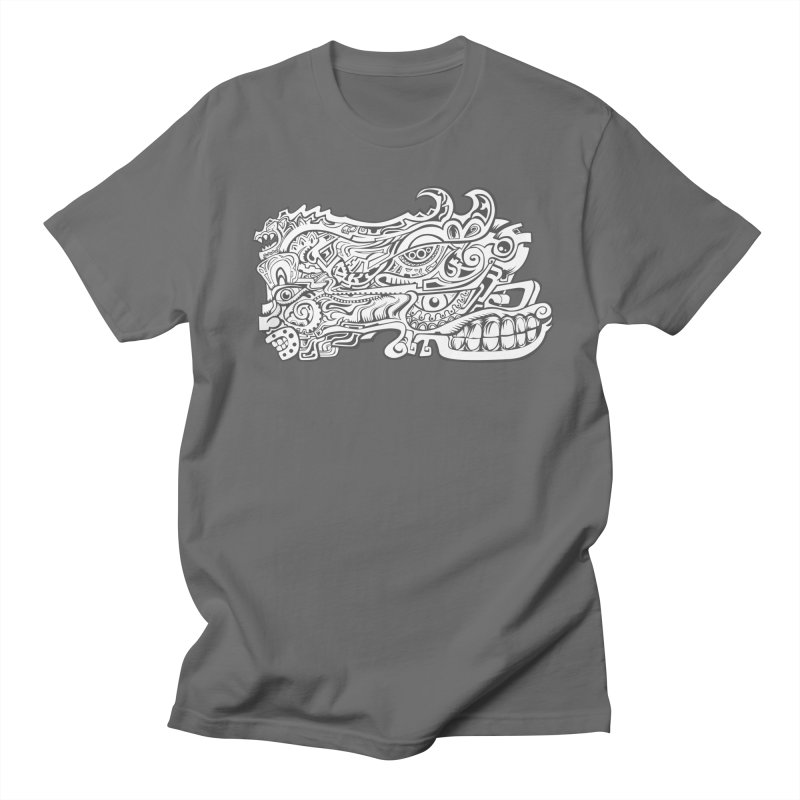 Indigenous Faces Design02 BW Men's T-Shirt by Art of Yaky Artist Shop