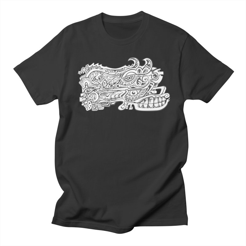 Indigenous Faces Design02 BW Men's T-Shirt by Art of YakyArtist Shop