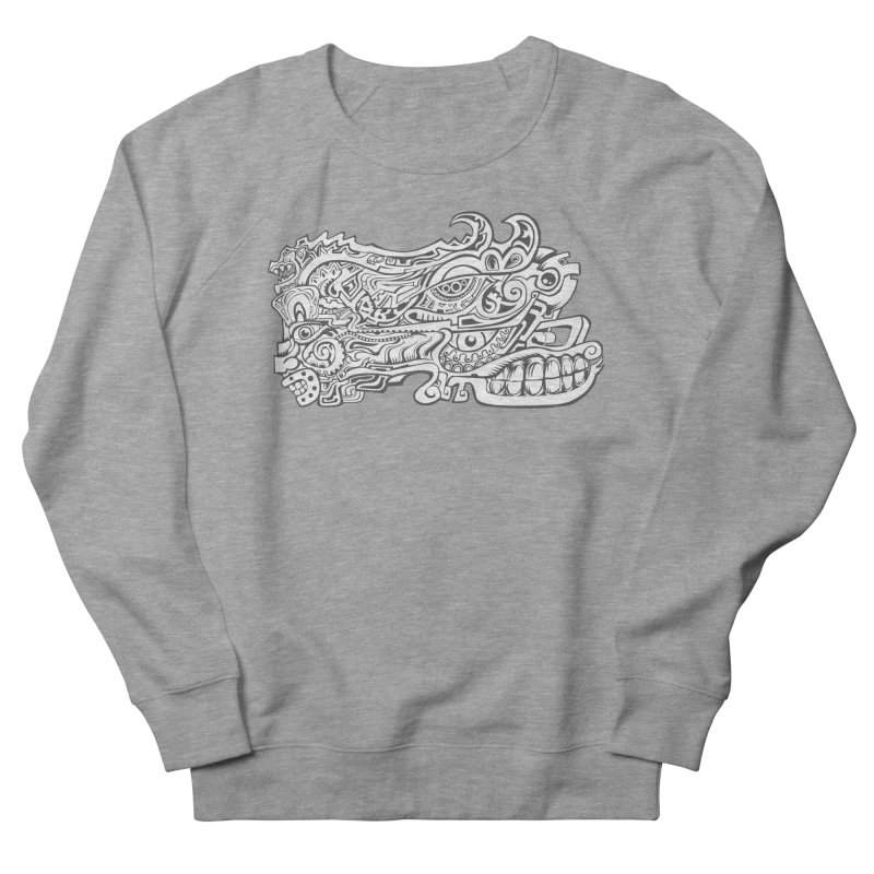 Indigenous Faces Design02 BW Men's French Terry Sweatshirt by Art of YakyArtist Shop