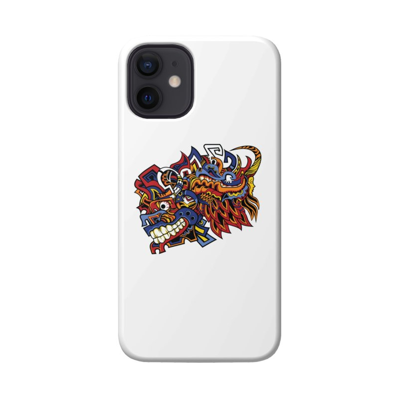 Indigenous Faces_Aztec Warrior Accessories Phone Case by Yaky's Customs