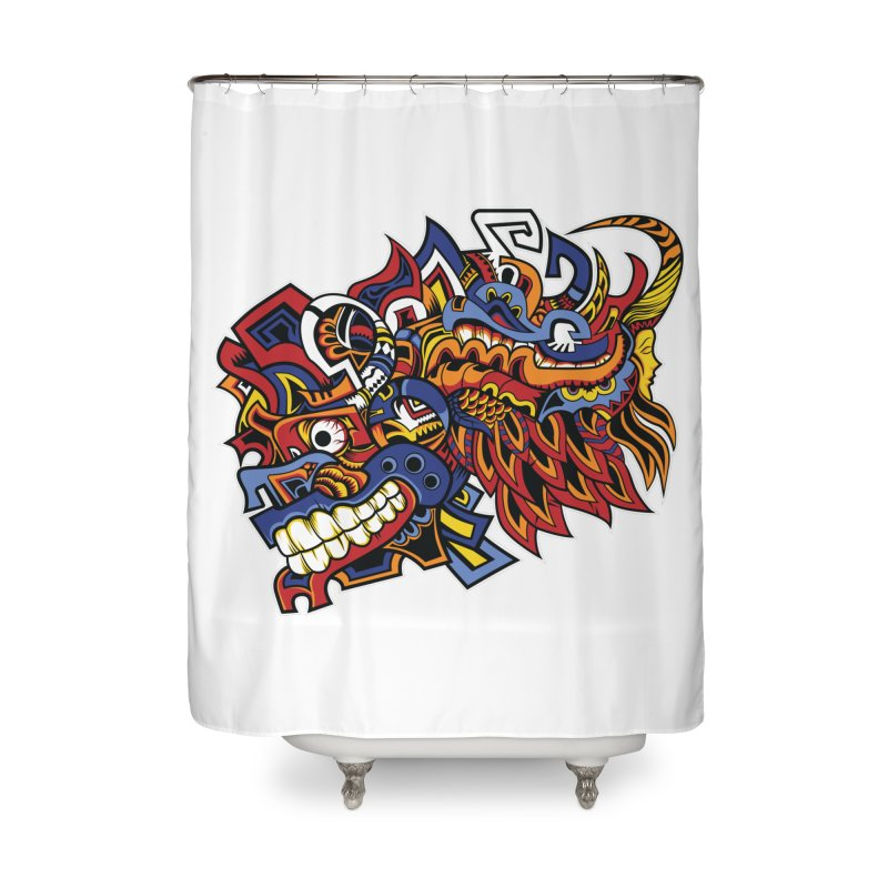 Indigenous Faces_Aztec Warrior Home Shower Curtain by Yaky's Customs