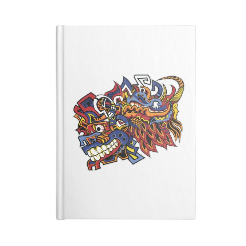 Indigenous Faces_Aztec Warrior Accessories Notebook by Yaky's Customs