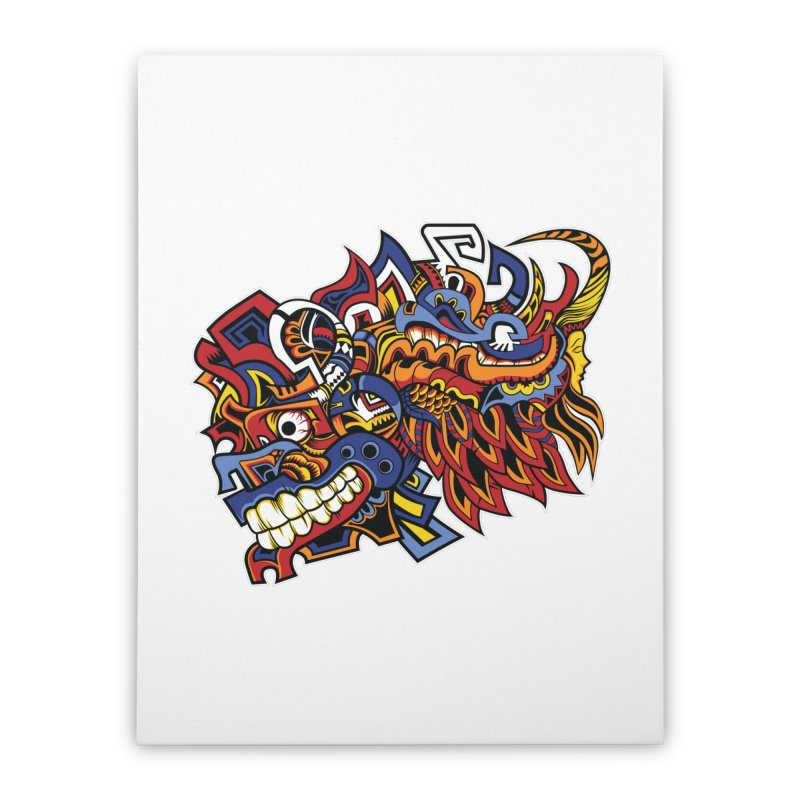 Indigenous Faces_Aztec Warrior Home Stretched Canvas by Yaky's Customs