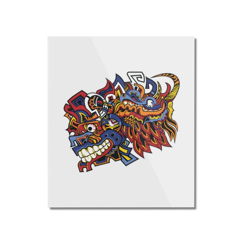 Indigenous Faces_Aztec Warrior Home Mounted Acrylic Print by Yaky's Customs