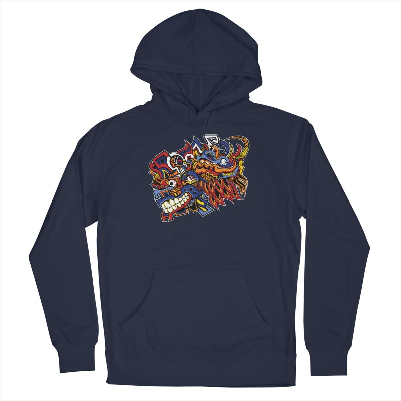 Indigenous Faces_Aztec Warrior Men's Pullover Hoody by Yaky's Customs