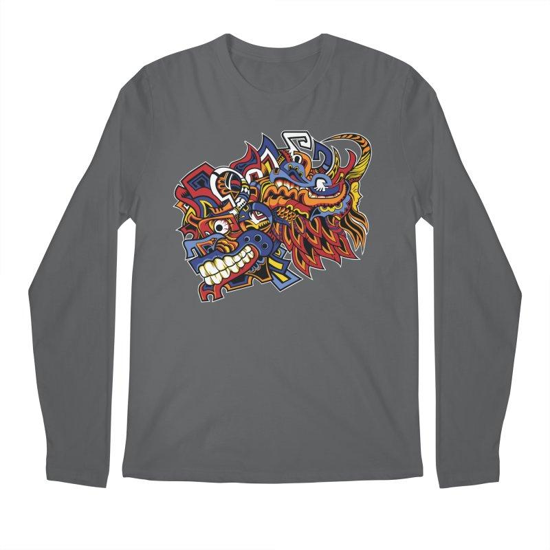 Indigenous Faces_Aztec Warrior Men's Longsleeve T-Shirt by Yaky's Customs