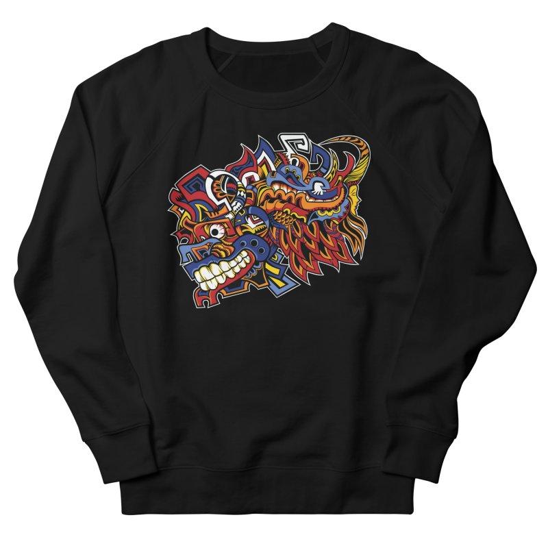 Indigenous Faces_Aztec Warrior Men's Sweatshirt by Yaky's Customs