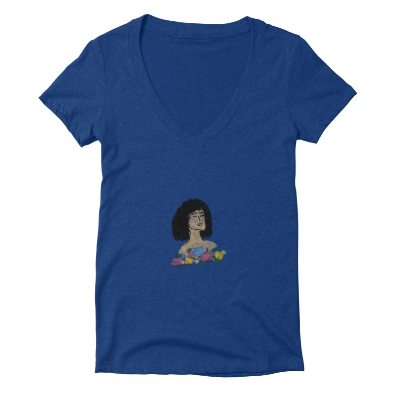 Beauty in the Meadow Women's V-Neck by Yaky's Customs