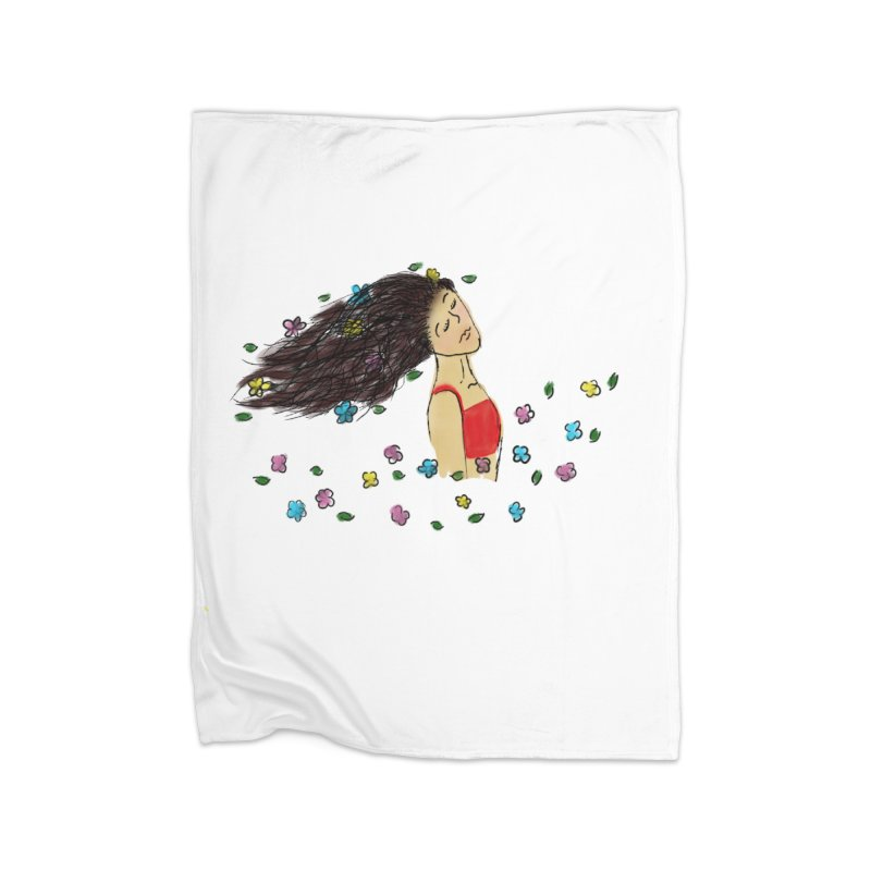 Flowers in the Wind Home Blanket by Yaky's Customs