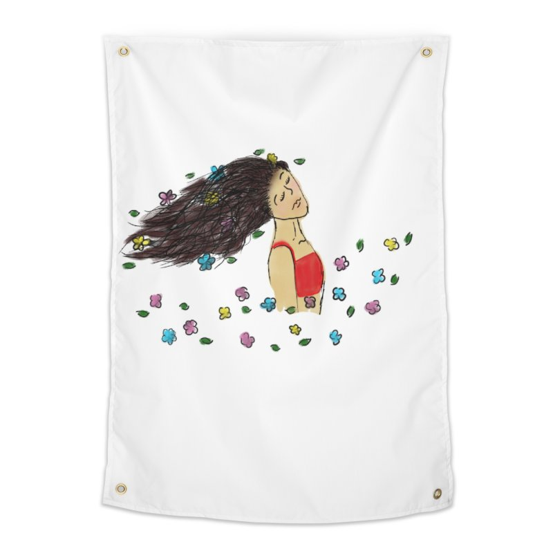 Flowers in the Wind Home Tapestry by Yaky's Customs