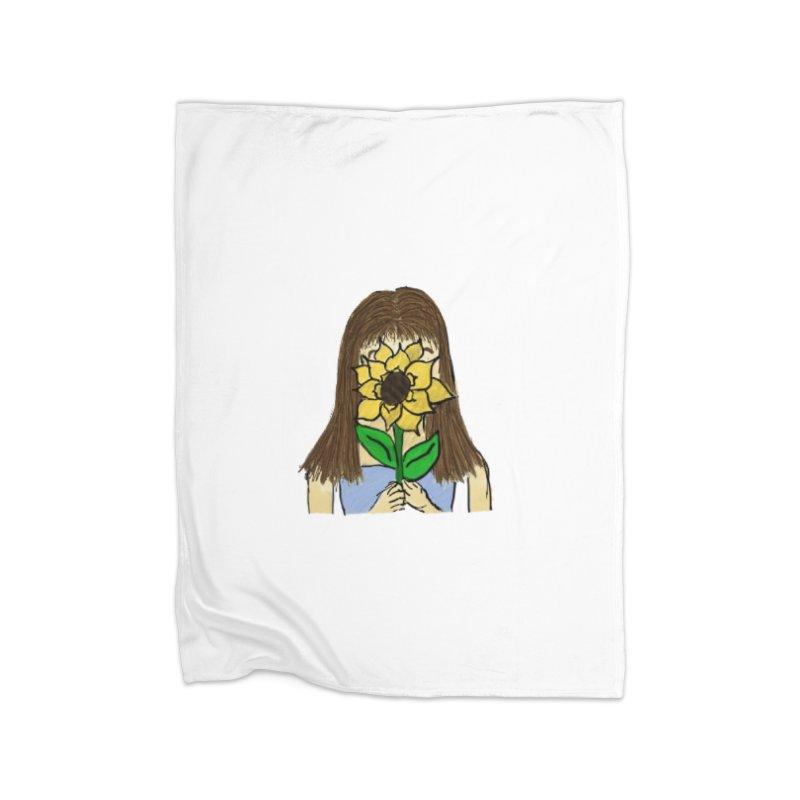Sunflower Girl Home Blanket by Yaky's Customs