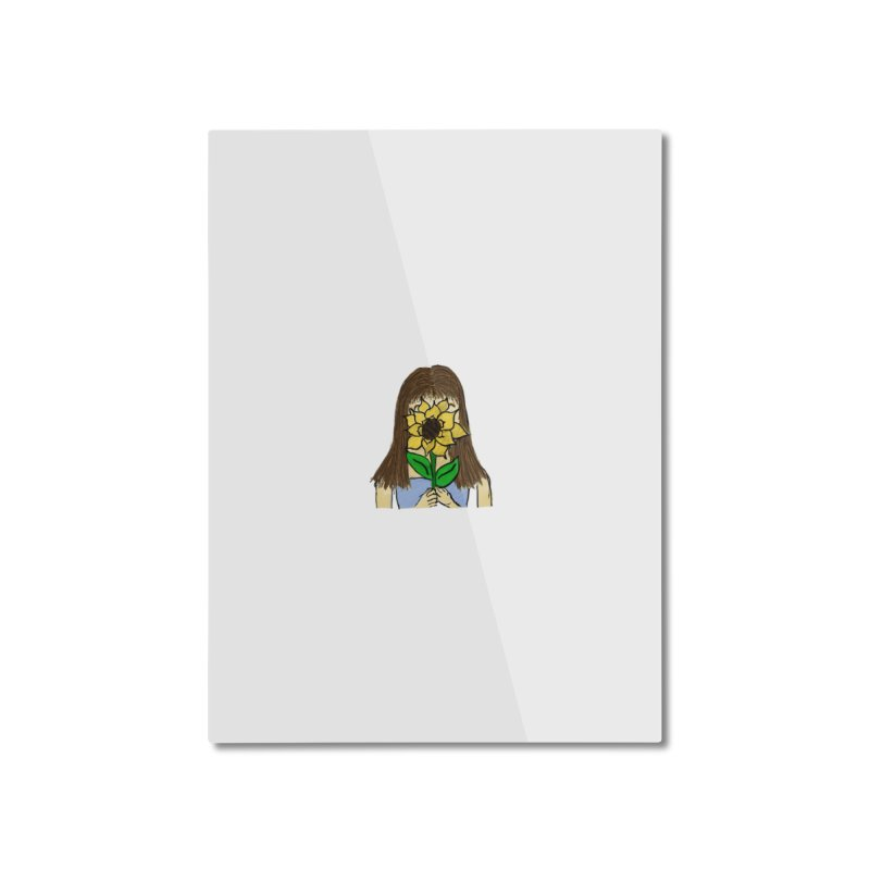Sunflower Girl Home Mounted Aluminum Print by Yaky's Customs