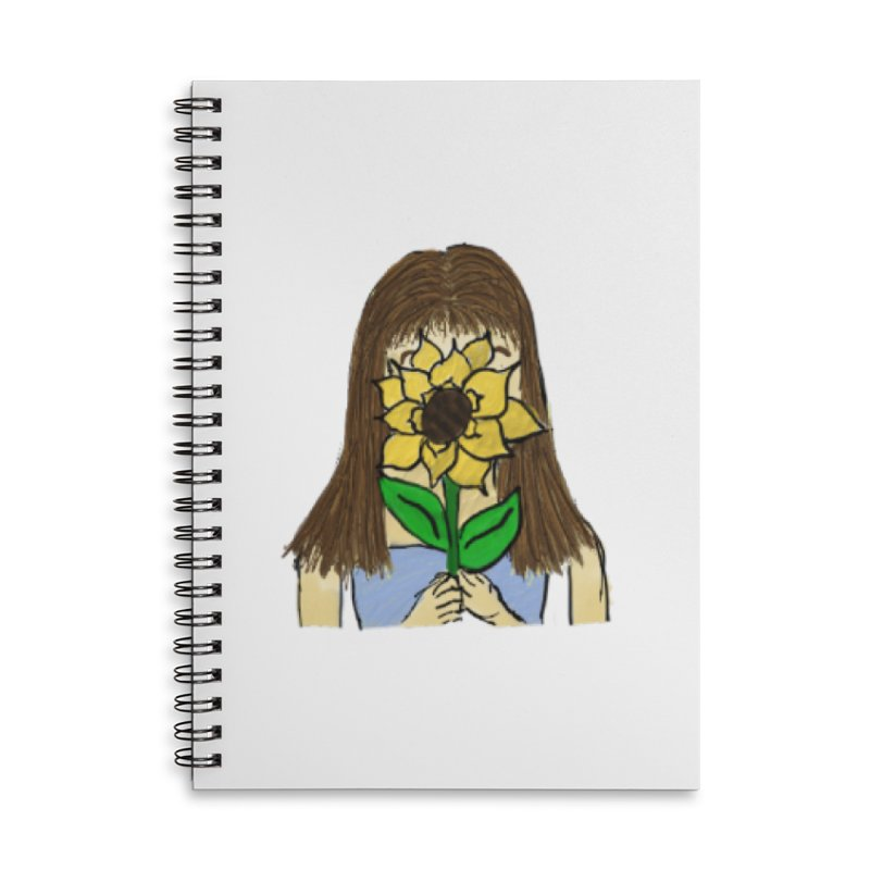 Sunflower Girl Accessories Notebook by Yaky's Customs