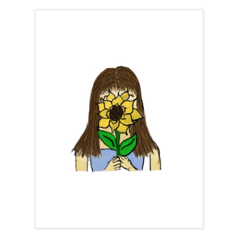 Sunflower Girl Home Fine Art Print by Yaky's Customs