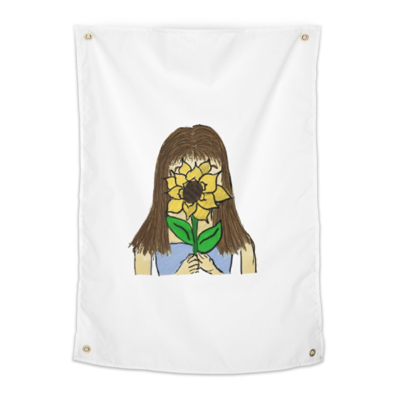 Sunflower Girl Home Tapestry by Yaky's Customs