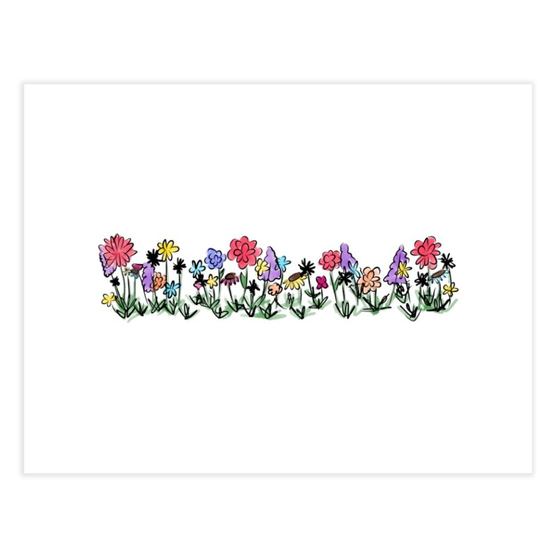 Field of Wildflowers Home Fine Art Print by Yaky's Customs