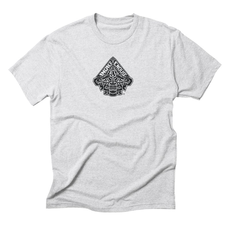 IndigenousFaces_Logo Men's Triblend T-Shirt by Art of YakyArtist Shop