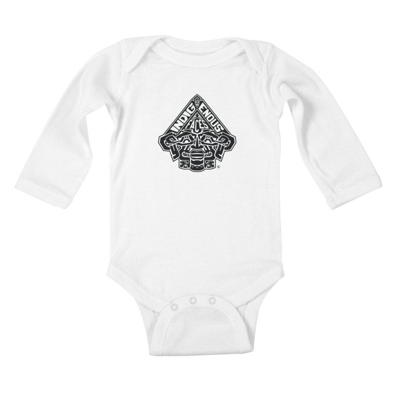 IndigenousFaces_Logo Kids Baby Longsleeve Bodysuit by Art of YakyArtist Shop