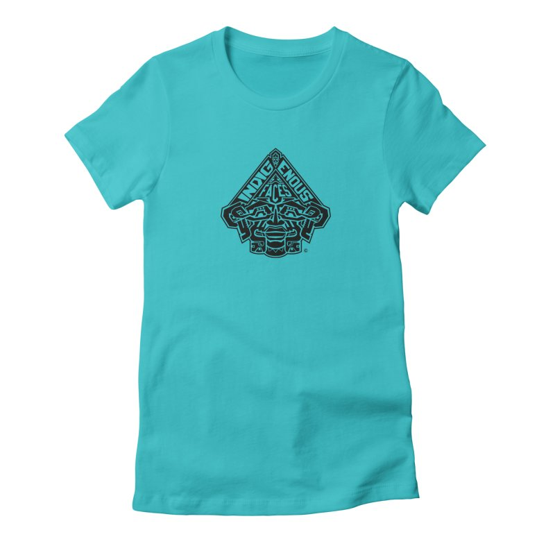 IndigenousFaces_Logo Women's Fitted T-Shirt by Art of YakyArtist Shop