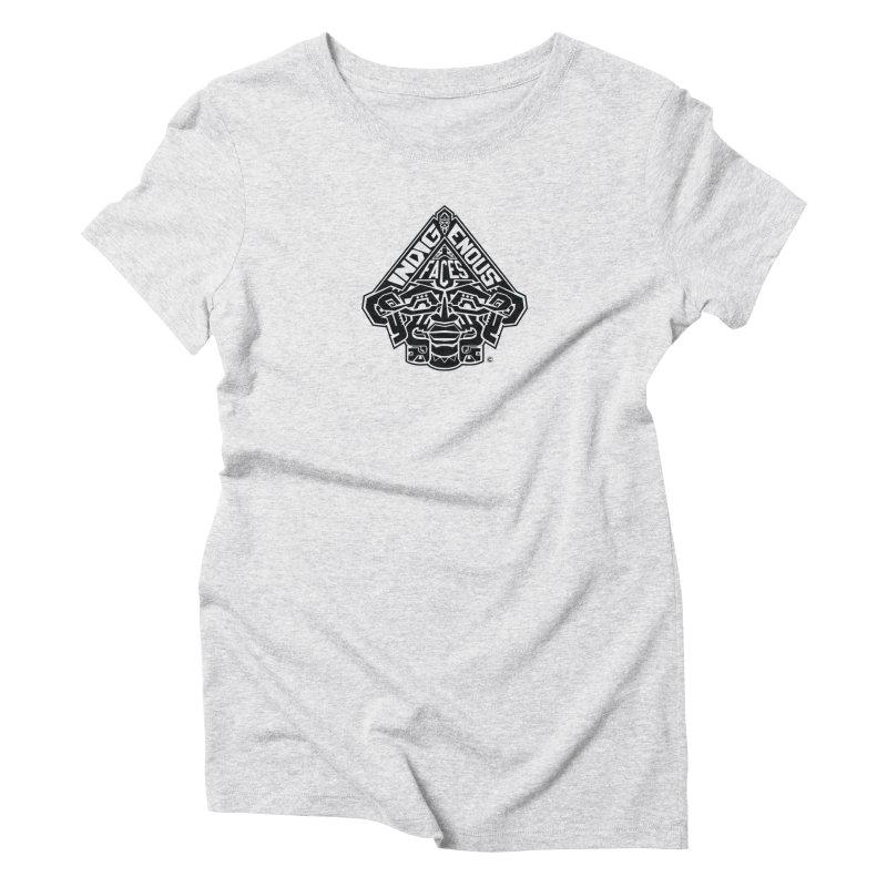 IndigenousFaces_Logo Women's Triblend T-Shirt by Art of YakyArtist Shop