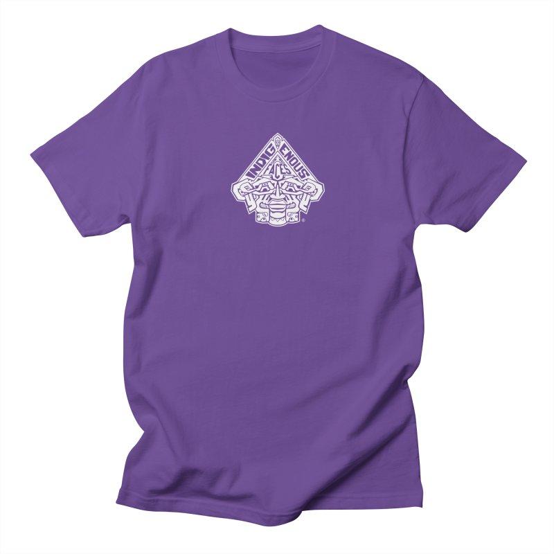 IndigenousFaces_Logo_Wht Men's Regular T-Shirt by Art of YakyArtist Shop