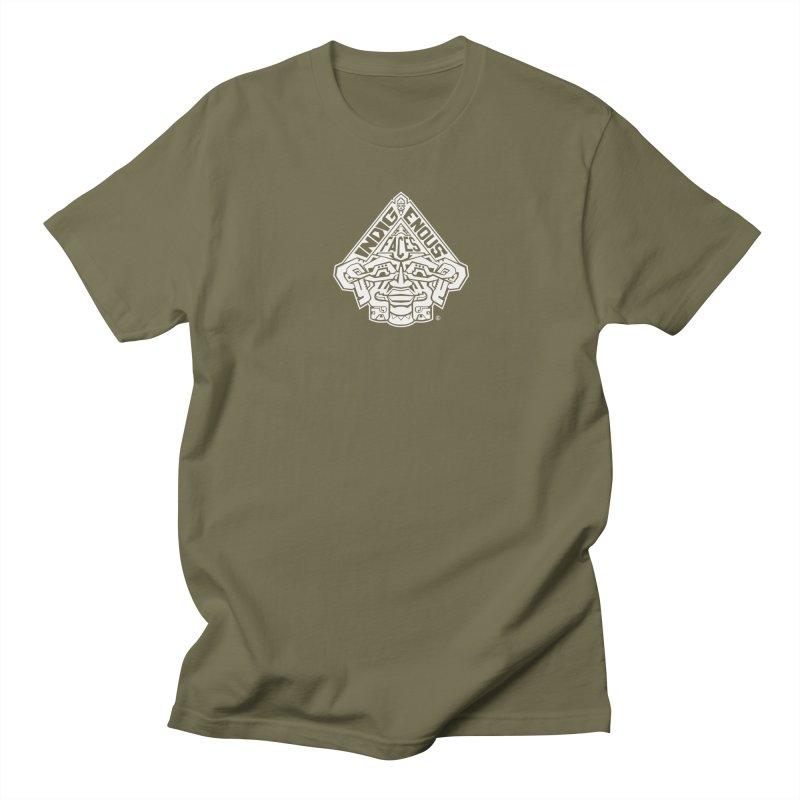 IndigenousFaces_Logo_Wht Men's T-Shirt by Art of YakyArtist Shop