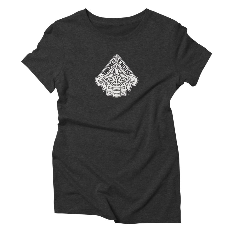 IndigenousFaces_Logo_Wht Women's Triblend T-Shirt by Art of YakyArtist Shop