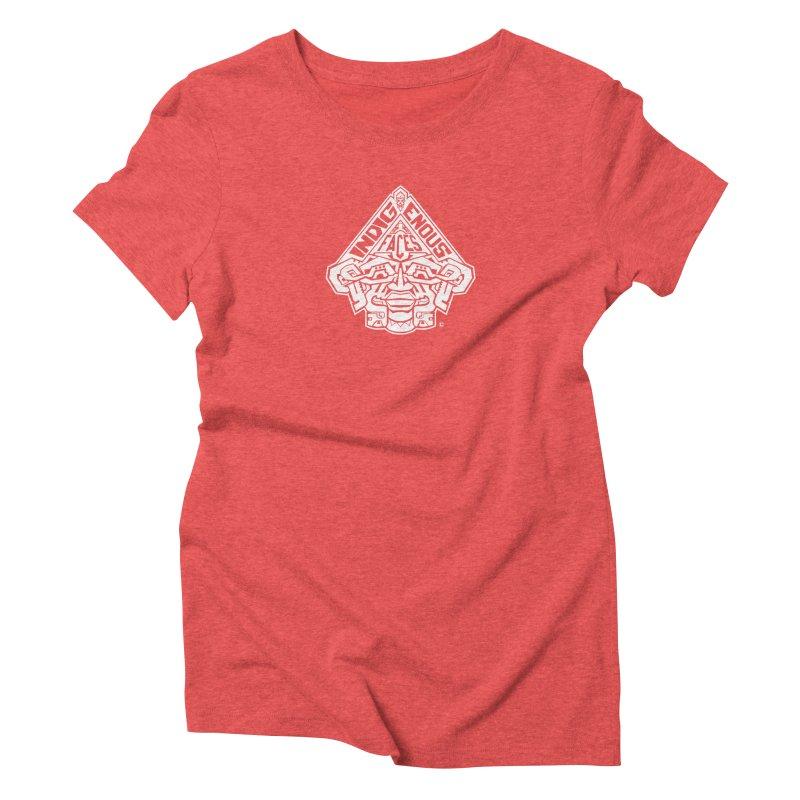 IndigenousFaces_Logo_Wht Women's Triblend T-Shirt by Art of YakyArtist Shop